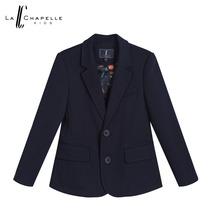 拉夏贝尔KIDS2017春新款 纯色长袖单排扣西装领西装男童10600457