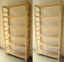 简易实木置物架储物架书架木架子层架木质多层架大块杉木J036