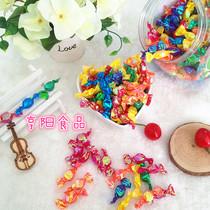 韩式炫彩亮纸千纸鹤水晶糖果水果糖多彩糖散装结婚喜糖生日批 发