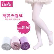 芭比儿童春秋女童宝宝白色学生袜子