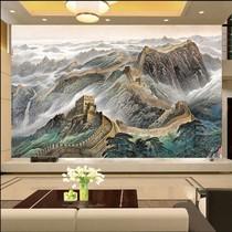 定做无缝大型壁画客厅办公室沙发电视背景墙壁纸壁布油画万里长城