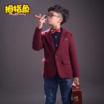 男童呢子加厚中大童韩版冬季礼服