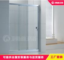 佛山厂家直销三联动淋浴房浴室一字形玻璃隔断移门简易淋浴房特价