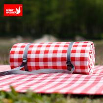 红白格子户外防潮垫野餐垫露营地垫加大加厚加宽防水草坪地野餐布