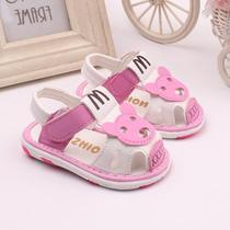 儿童鞋子宝宝鞋软底学步1-2-3岁男女婴儿防滑凉鞋叫叫鞋有带响声