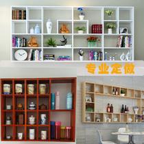格架实木格子木格书架茶壶多宝阁展示架墙壁书柜挂墙置物架木质