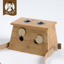 明大妈单孔家用随身灸艾灸盒木制无烟艾条盒艾灸器具罐竹制艾灸仪