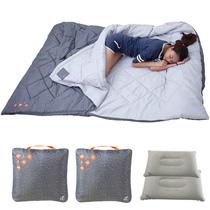 四季冬季室内羽绒纯棉出差宾馆旅游情侣三人双人卫生成人睡袋户外