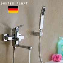 德国BUNTERACHAT全铜方形浴缸水龙头冷热淋浴龙头混水阀出水旋转