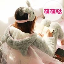 可爱卡通冬季珊瑚绒韩版加绒甜美睡衣