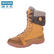 【清仓】迪卡侬 户外女士 冬季雪地靴 滑雪鞋防水保暖鞋  QUECHUA