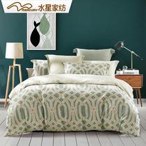 水星家纺 全棉磨毛活性印花四件套 欧利西斯纯棉加厚1.8m床上用品