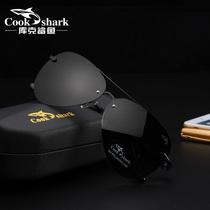 cookshark/库克鲨鱼男士户外太阳镜偏光墨镜驾驶镜高清看漂钓鱼镜