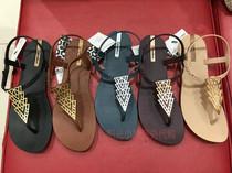 巴西 ipanema 依帕内玛  2017款女士璀璨系列三角款 夹趾凉鞋代购