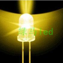 5毫米灯珠 led白发黄色发光二极管 F5黄色指示灯 5mm超高亮