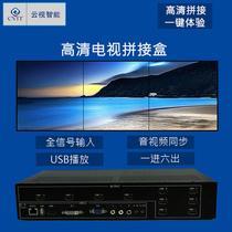 电视拼接器1进6出拼接控制器电视机拼接盒HDMI高清拼接处理器
