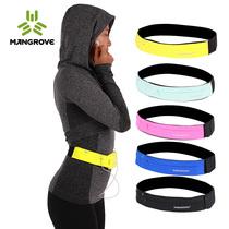 曼哥夫户外跑步手机腰包男女健身防水隐形贴身腰带多功能运动腰包