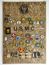现货拯救者魔术贴章徽章收纳展示海报臂章整理布魔术贴挂墙展示布