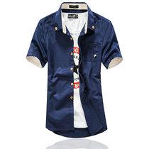 纯棉商务白色青年韩版学生修身衬衣