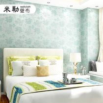 欧式新款简约现代无缝墙布客厅卧室背景底温馨婚房女孩秋叶包施工