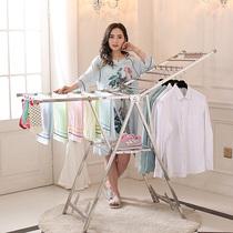衣炫晾衣架不锈钢落地折叠翼型室内外阳台移动婴儿尿布简易晒被架