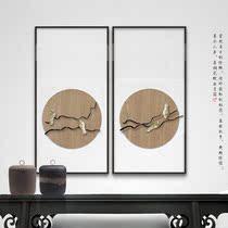 新中式客厅装饰画实物画沙发背景墙挂画禅意画玄关软装画电表箱画