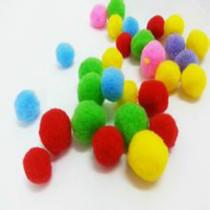 手工彩色毛绒球毛毛球儿童益智玩具幼儿园创意手工diy材料批发