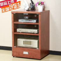悦盛新款功放机柜木质功放机架专业音响架子设备器材柜子带玻璃门