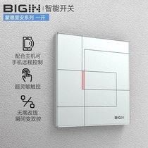 BIGIN智能无线触摸遥控开关墙壁86型 蒙德里安系列 一开雅白面板