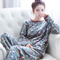 法兰绒甜美保暖舒适可爱卡通韩版睡衣