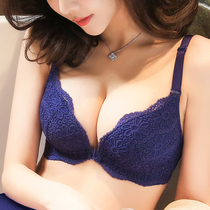 转角秘密 夏季前扣内衣无钢圈文胸 性感蕾丝小胸聚拢调整型胸罩