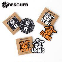 RESCUER拯救者 USMC大狗 八卦 军迷PVC魔术贴章个性包贴臂章徽章