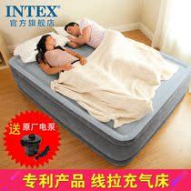 intex 充气床垫家用双人 双层气垫床单人加高加厚 便携冲气折叠床