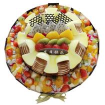 伊甸园生日鲜花速递同城玫瑰百合青岛上海北京全国蛋糕星语心愿
