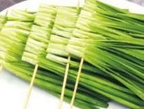 【二胡子烧烤】5串韭菜户外野炊食品野外半成品食材串重庆配送