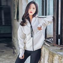 2017韩国春夏健身服女套装二件套瑜伽运动跑步服宽松修身大码外套