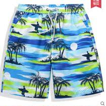 格子男士夏季纯棉休闲短裤