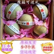 新鲜日本玫珑蜜瓜5-7只装14斤以上爆甜蜜瓜玫瓏网纹甜瓜多省包邮