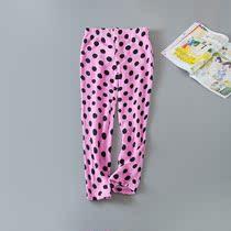 简约圆点印花保暖珊瑚绒宽松休闲睡裤