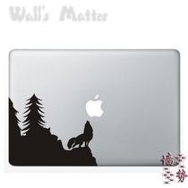 狼叫月夜树 咬苹果 手提电脑笔记本贴 平板贴 特价墙贴纸自粘墙纸