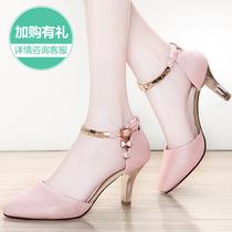 2017新款韩版时尚包头高跟凉鞋女士夏季细跟高跟鞋公主百搭女鞋子