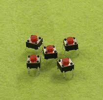 红头轻触开关红色头卧式按键电磁炉按键显示器按键开关4脚6X6X5