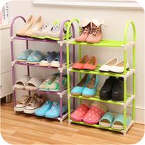 鞋架创意拆装组合多层鞋子收纳架组装鞋柜置物架 落地四层简易塑