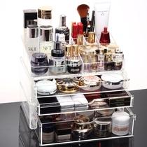亚加丽加 包邮 超大号透明抽屉式化妆品收纳盒 组合化妆盒 收纳柜