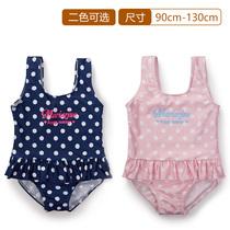 千趣会 BABY&CHILD婴儿童装女波点图案连体泳衣 D12527