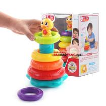 汇乐897彩虹叠叠鸭婴儿套圈叠叠乐益智早教音乐电动玩具6个月