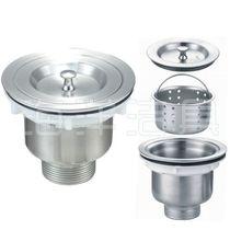 厨房水槽下水器下水管软管洗菜盆洗碗水池304全钢下水器配件包邮