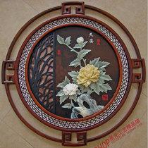 玄关餐厅装饰画客厅沙发背景墙画壁画过道走廊中式实木挂画单幅