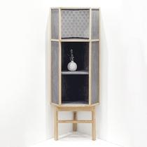 吱音客厅实木新中式墙角柜