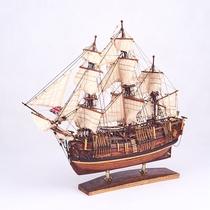 付昆祥匠心船说纯手工制作收藏奋进号木质仿真古帆船船模摆件限量